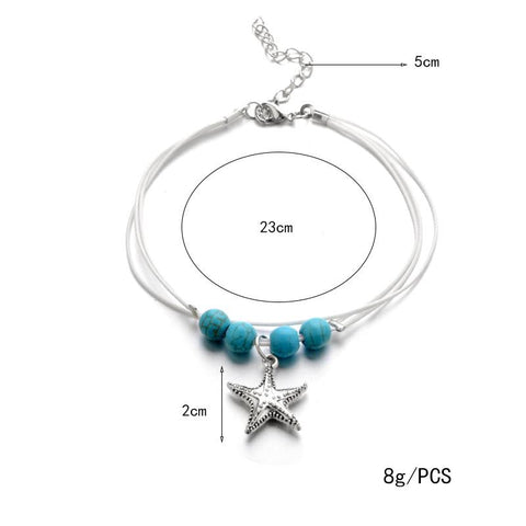 Image of Jewelry - Bohemian Starfish Anklet