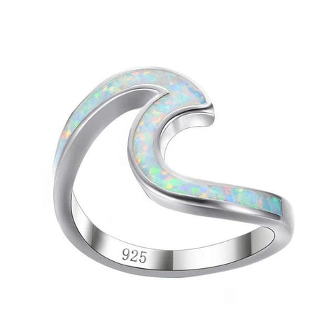 Jewelry - Fire Opal Ocean Wave Ring