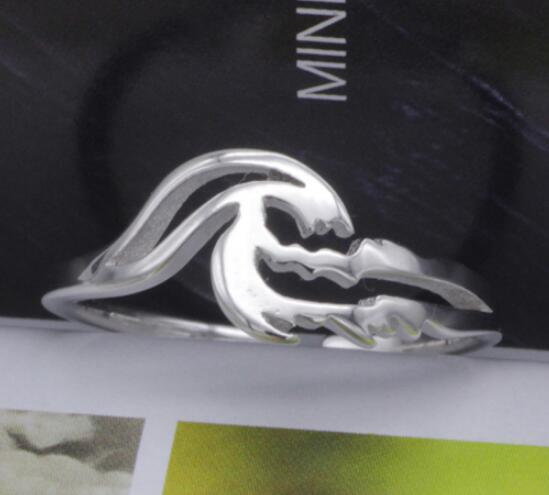 Jewelry - Mermaid Tail Resizable Silver Ring I Damn Skippy Wear Wave