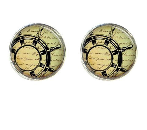 Jewelry - Old World Sailing Clips And Cufflinks