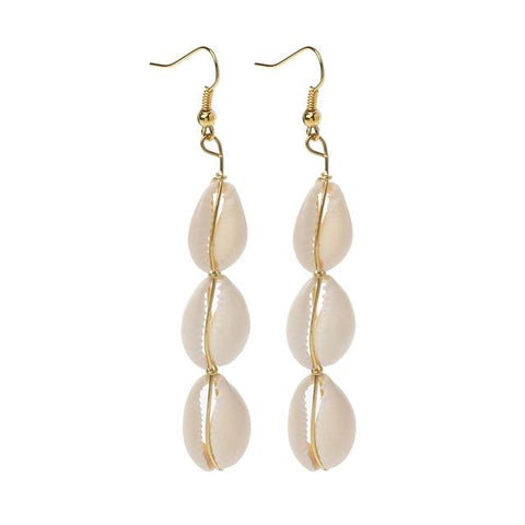 Jewelry - Seashell Trail Earrings 3 seashells