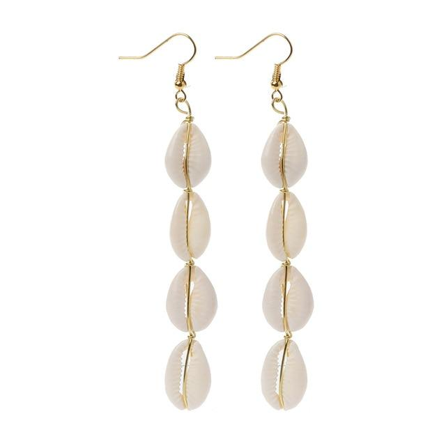 Jewelry - Seashell Trail Earrings 4 seashells