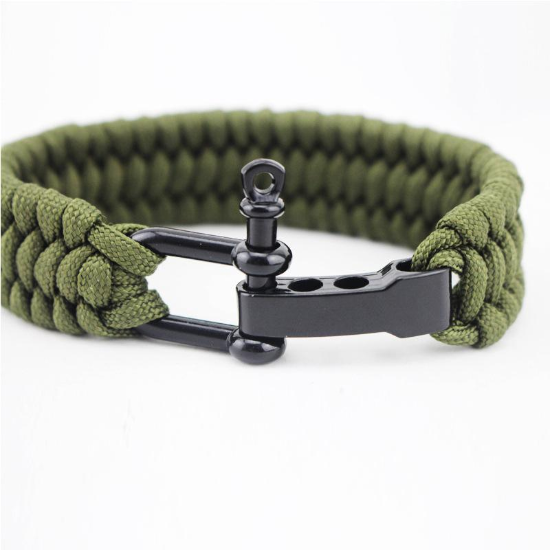 Jewelry - Stainless Anchor Shackles Paracord Bracelet - Shackle Mechanism