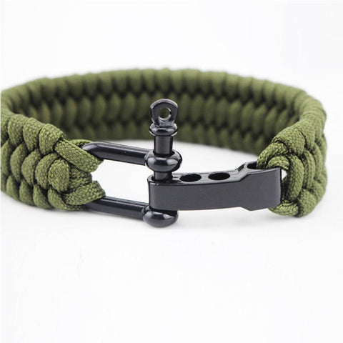 Image of Jewelry - Stainless Anchor Shackles Paracord Bracelet - Shackle Mechanism