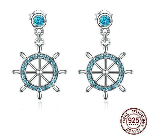 Image of Jewelry - Sterling Silver Sailing Dream Drop Earrings