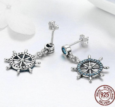 Jewelry - Sterling Silver Sailing Dream Drop Earrings