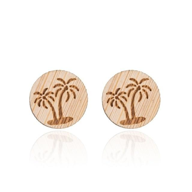 Jewelry - Timber Beach Stud Earrings Palm Trees