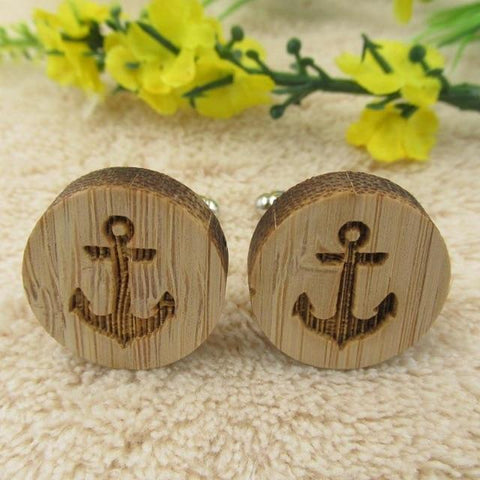 Image of Jewelry - Timber Anchors Cufflinks - handmade