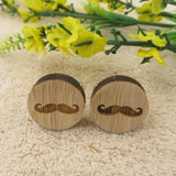 Image of Jewelry - Timber Mustaches Cufflinks - handmade