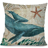 Image of Marine Marvel Pillowcases Pillow Whale