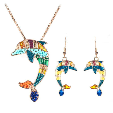 Jewelry - Ocean Princess Dolphin Charms Gold