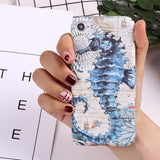 Image of Phone Case - Marine Animals Luminous IPhone Hard Case