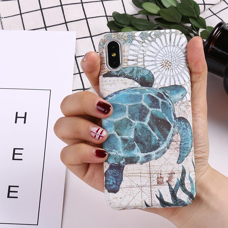 Phone Case - Marine Animals Luminous IPhone Hard Case