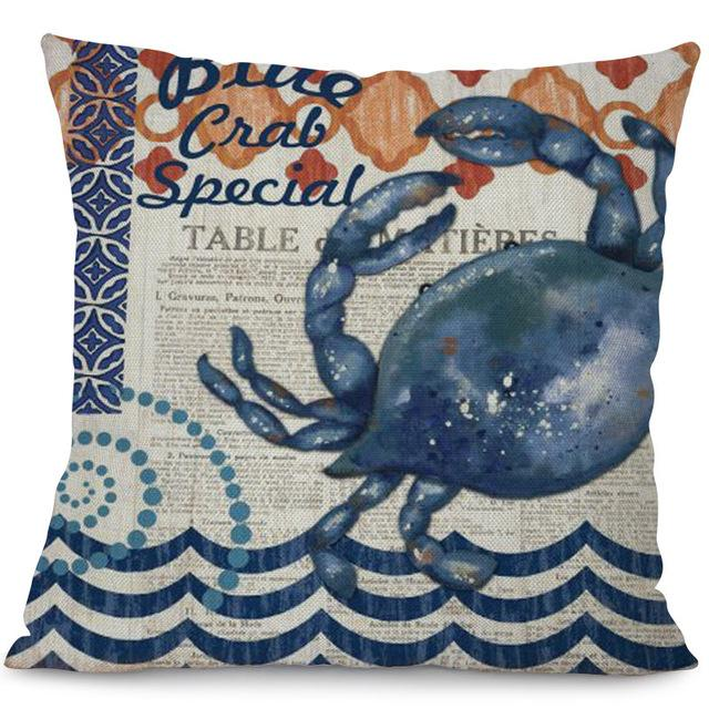 Sea Marvels Pillow Cases Crab I Damn Skippy Wear