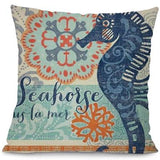 Image of Sea Marvels Pillow Cases Seahorse I Damn Skippy Wear