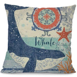 Image of Sea Marvels Pillow Cases Whale I Damn Skippy Wear