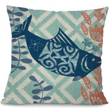 Image of Sea Marvels Pillow Cases Salmon I Damn Skippy Wear
