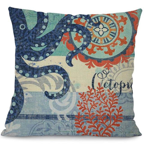 Image of Sea Marvels Pillow Cases Octopus I Damn Skippy Wear