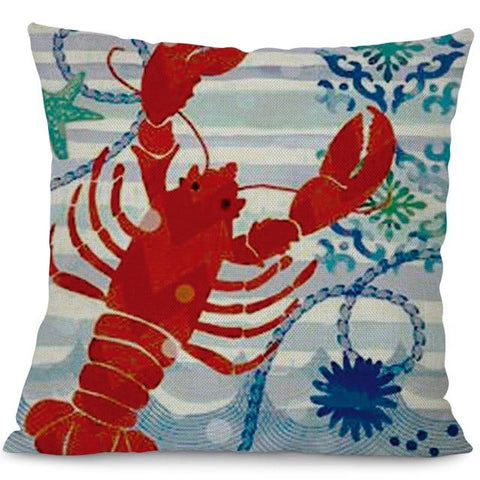 Sea Marvels Pillow Lobster I Damn Skippy Wear
