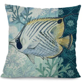 Image of Sea Marvels Pillow Cases Tropical Fish I Damn Skippy Wear