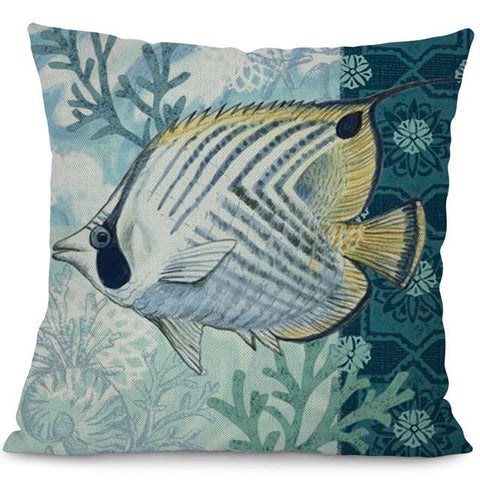 Sea Marvels Pillow Cases Tropical Fish I Damn Skippy Wear