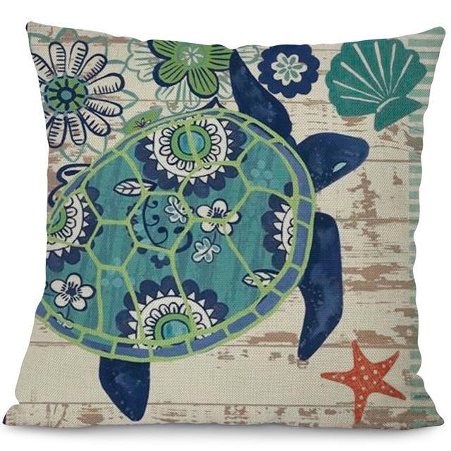 Sea Marvels Pillow Cases Turtle I Damn Skippy Wear
