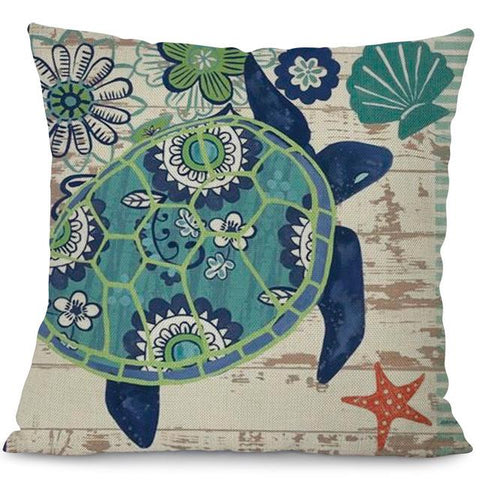 Image of Sea Marvels Pillow Cases Turtle I Damn Skippy Wear