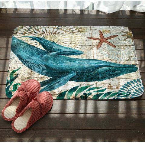 Image of Sea Marvels Floor Mats Whale
