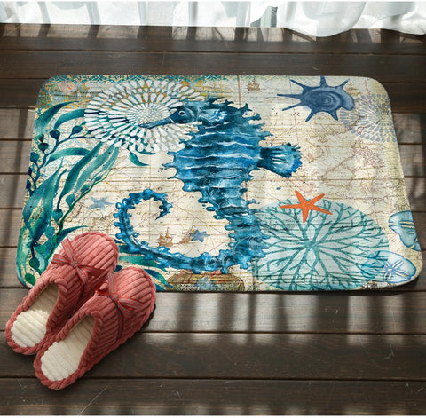 Image of Sea Marvels Floor Mat Seahorse