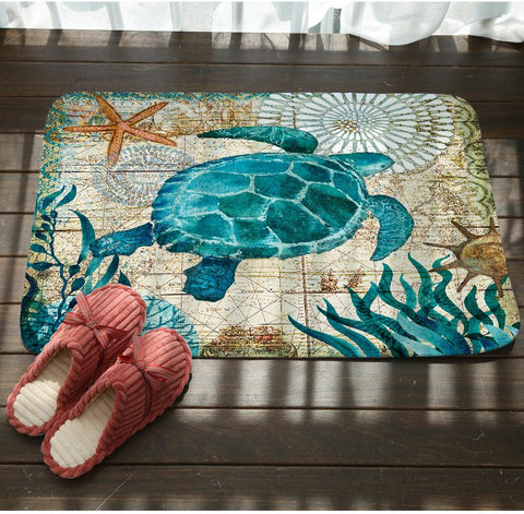 Image of Sea Marvels Floor Mats Turlte Tortoise
