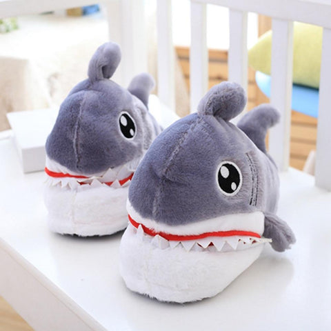 Slippers - Fuzzy Shark Slippers