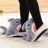 Image of Slippers - Fuzzy Shark Slippers