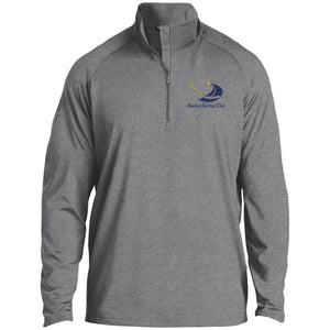 ASC Men's 1/2 Zip Raglan Embroidered Performance Pullover, Polyester