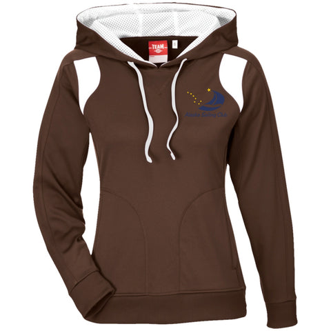 Image of Sweatshirts - ASC Women's Colorblock Embroidered Poly Hoodie