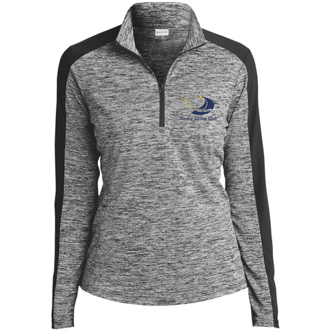 Image of Sweatshirts - ASC Women's Electric Heather Colorblock Embroidered 1/4 Zip Pullover, Polyester