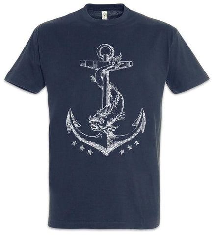 T-shirt - Fashion Print Ocean Anchor T-Shirt