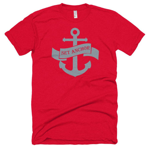 Image of T-shirt - Premium Set Anchor T-Shirt Red