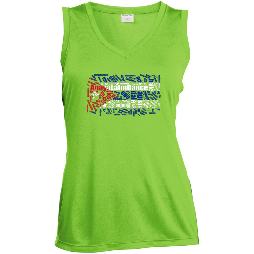 T-Shirts - ALD Women's Sleeveless Performance V-Neck (Polyester)