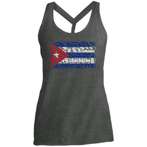 T-Shirts - Cuban Dance Flag Cosmic Twist Back Tank