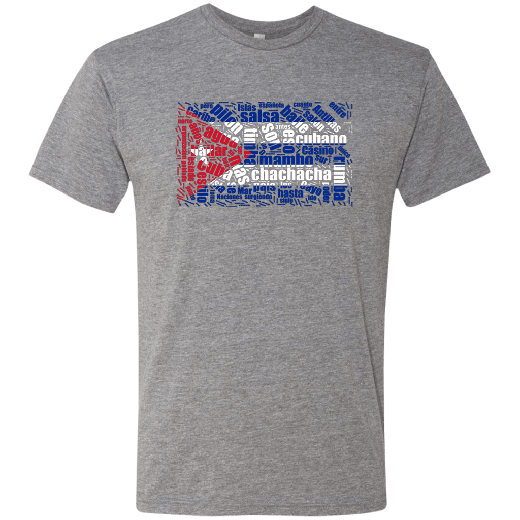T-Shirts - Cuban Dance Flag Men's Triblend T-Shirt