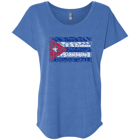 Image of T-Shirts - Cuban Dance Flag Triblend Dolman Sleeve