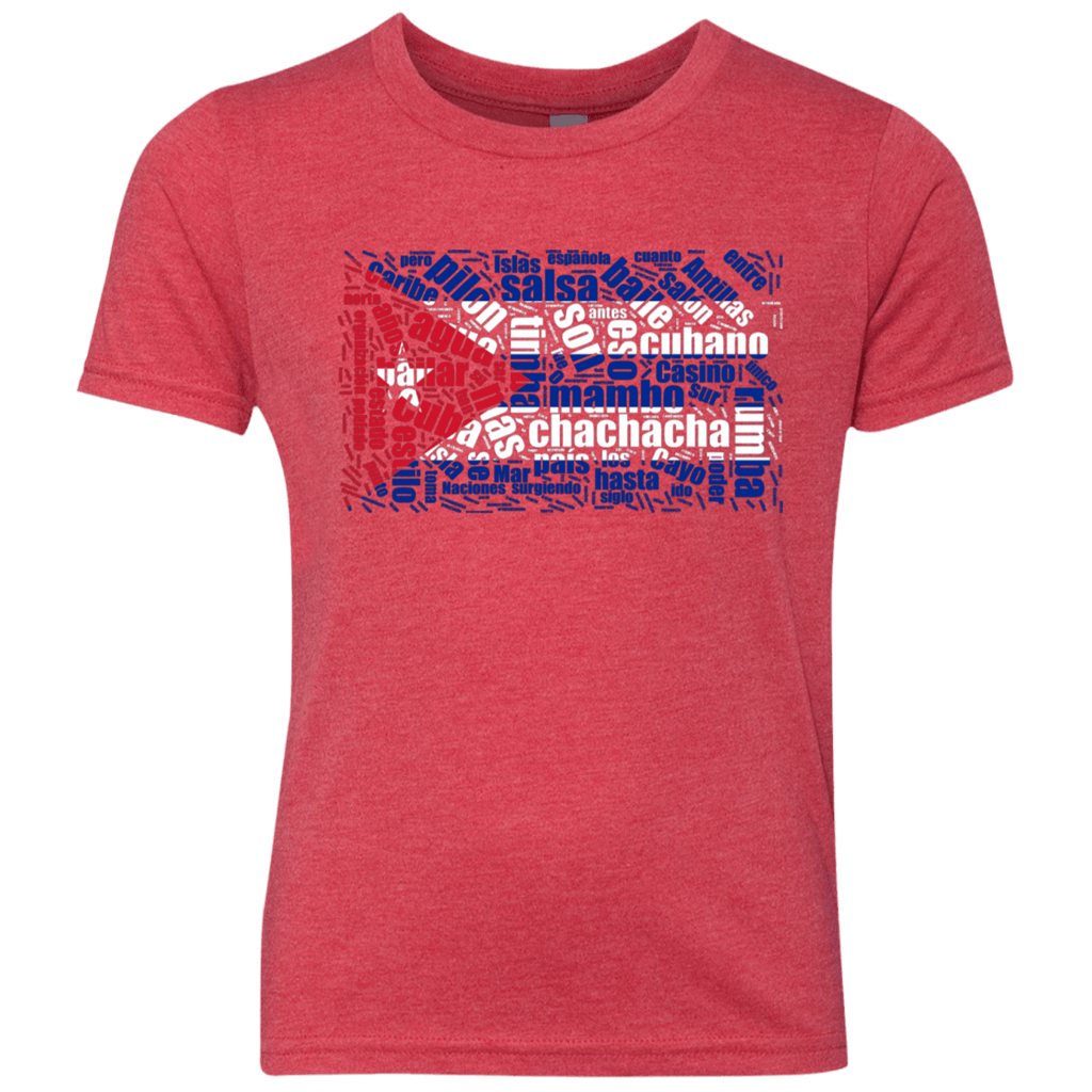 T-Shirts - Cuban Dance Flag Youth Triblend Crew T-shirt