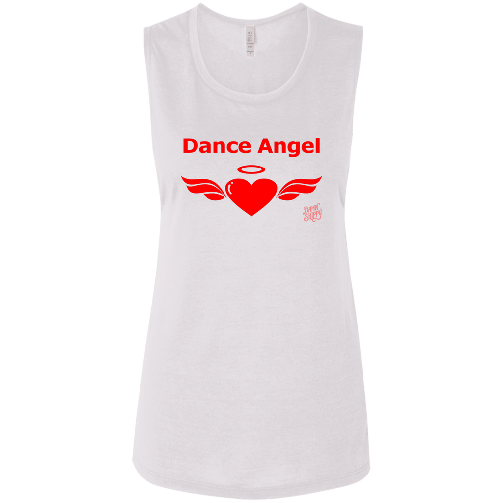 Tank Top - Dance Angel Women's Flowy Muscle Tank