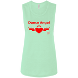 Image of Tank Top - Dance Angel Women's Flowy Muscle Tank