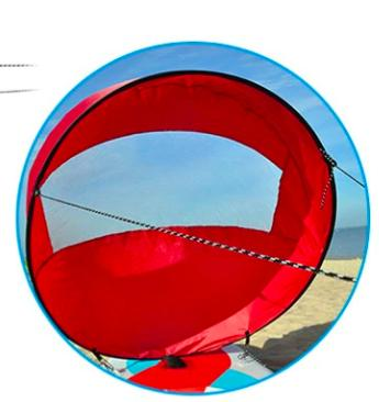 Water Sports - Foldable Wind Sail For Kayak, Canoe And SUP