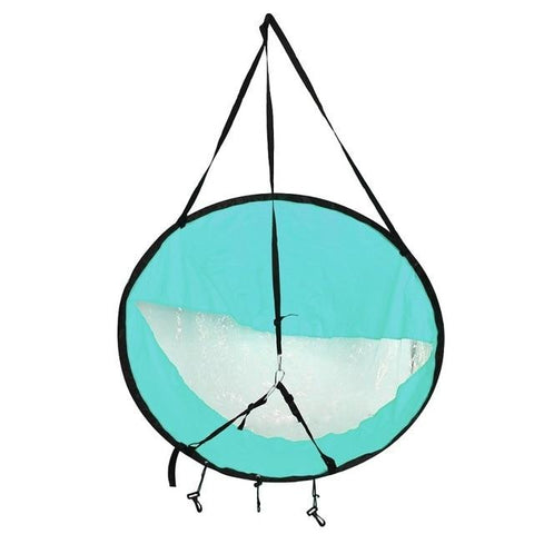 Image of Water Sports - Foldable Wind Sail For Kayak, SUP, Canoe And Paddle Boat Teal