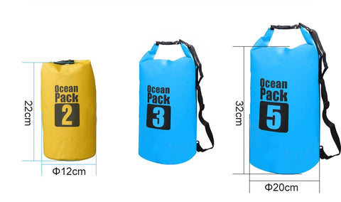 Water Sports - Waterproof Dry Bag For Rafting, Kayaking, Floating, Sailing, Canoeing (2L, 3L, 5L)