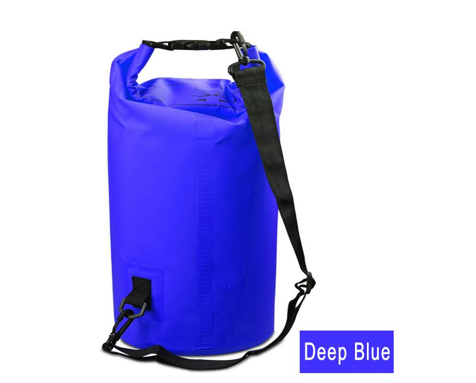 Water Sports - Waterproof Dry Bag For Rafting, Kayaking, Sailing, Canoeing (2L, 3L, 5L) Deep Blue