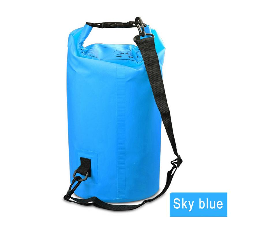 Water Sports - Waterproof Dry Bag For Rafting, Kayaking, Sailing, Canoeing (2L, 3L, 5L) Light Blue