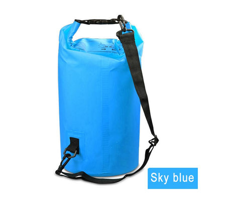 Image of Water Sports - Waterproof Dry Bag For Rafting, Kayaking, Sailing, Canoeing (2L, 3L, 5L) Light Blue